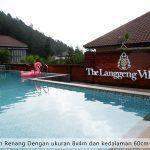 villa di batu kolam renang
