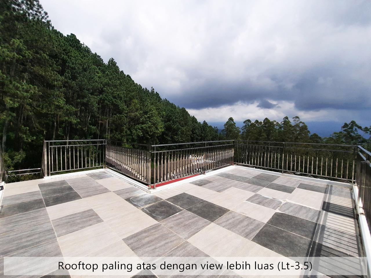 villa batu view gunung