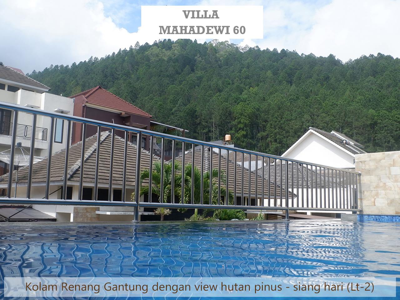 villa batu kolam renang pribadi